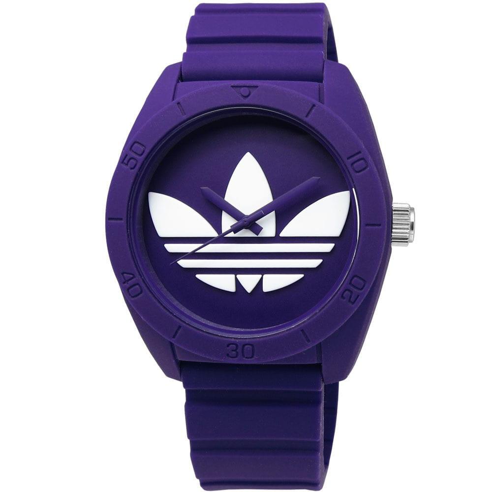 Adidas Women's Santiago Purple Dial Rubber Strap Watch by Overstock