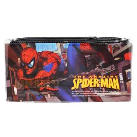 The Amazing Spider-Man Vinyl Web Slinging Zippered Pencil Pouch - Web Slinging Games
