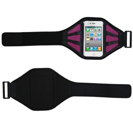 Insten Black/Pink Sport Armband Running Gym Case Sportband For iPhone 4 4S 5 5S 5C iPod Touch 6 6th 5 5th Gen