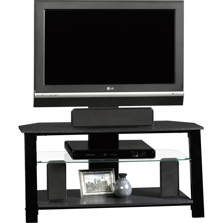 Sauder Beginnings 38 Tv Stand In Black With Mount Walmart Com