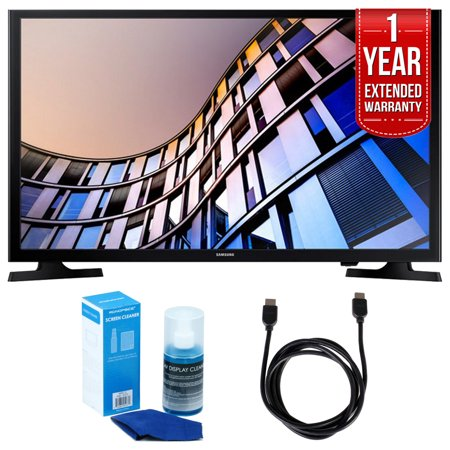 Samsung UN32M4500 32-Inch 720p Smart LED TV (2017 Model) + 6ft High Speed HDMI Cable (Black) + Universal Screen Cleaner (Large Bottle) for LED