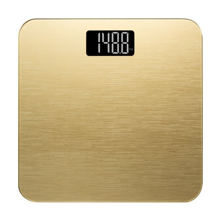 Smart Weigh 400lb Lcd Bathroom Digital Body Weight Scale Tempered Gl Gold
