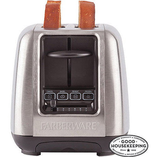 FARBERWARE 2-Slice Toaster, Stainless Steel