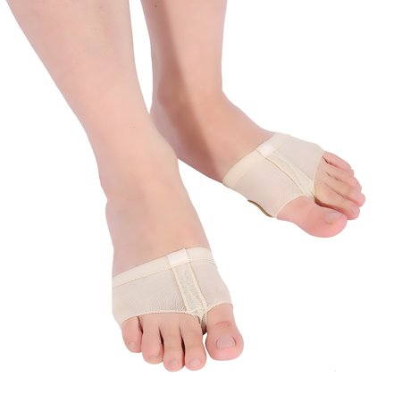 Women's 2 Pairs Dance Paws Pad Dance Shoe Forefoot Pads Toe Undies(Skin
