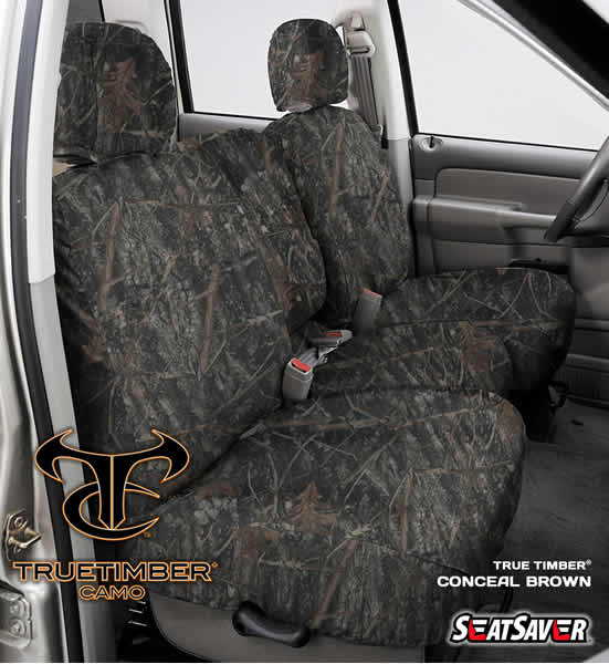 SeatSaver Seat Protector: 2011-19 Fits JEEP GRAND CHEROKEE LAREDO, LIMITED, UPLAND, ALTITUDE, SRT, OVERLAND, SUMMITSUBISHI & (True Timber, Conceal Brown) (2015 Jeep Grand Cherokee Altitude Tire Size)