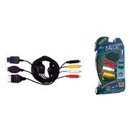 Intec - Game console link cable - S-Video / composite video / audio - 4 pin mini-DIN, RCA (M) to Sony PlayStation AV Multi Out, Xbox AV connector, GameCube analog AV connector, Nintendo 64 AV connector (M)