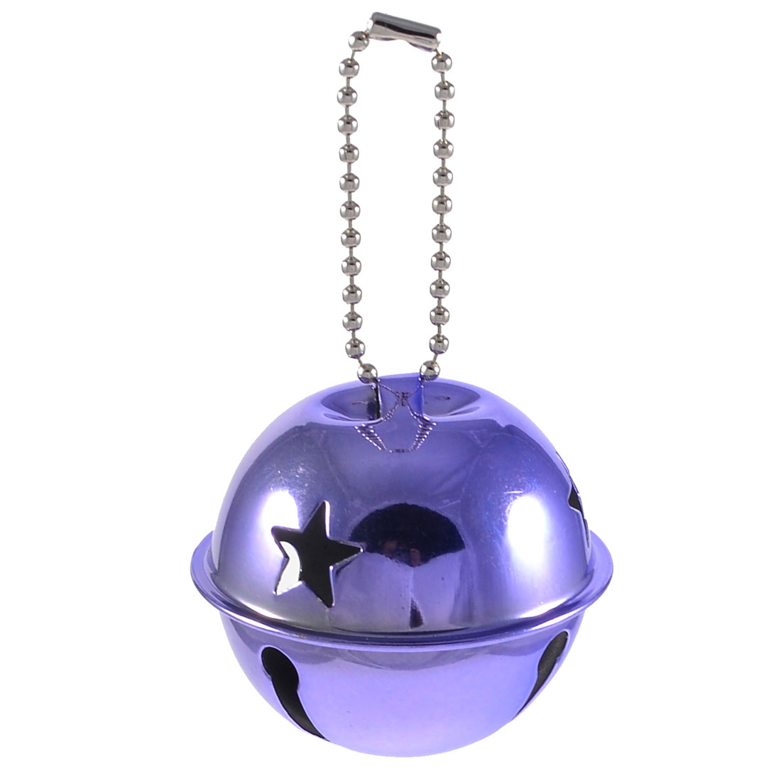 Unique Bargains Purple Star Printed 50mm Diameter Ring Bell Xmas Gift for Christmas Tree