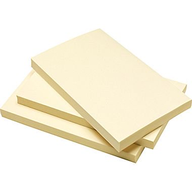 staples stickies recycled notes 3 x 5 yellow 12 pads pack s