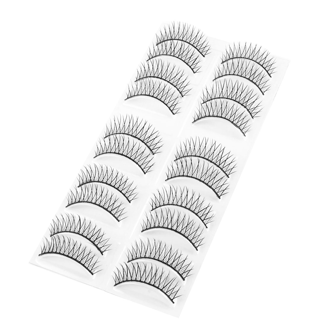 10 Pairs Costume Ball Cosmetic Black Long Thick Curly False Eyelashes for Lady