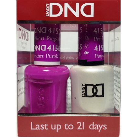 DND Nail Polish Gel & Matching Lacquer Set (415 - Purple Heart)
