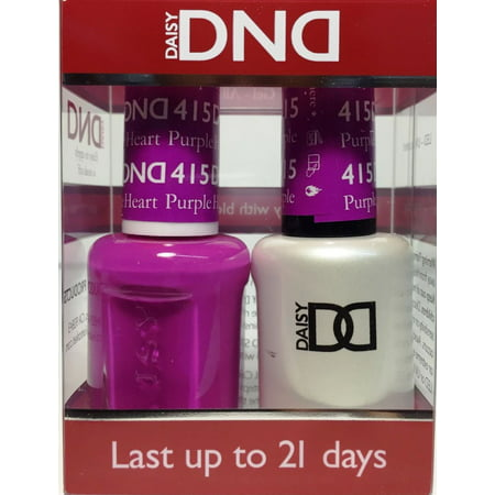 Dnd Nail Polish Gel Amp Matching Lacquer Set 415 Purple Heart Walmart Com