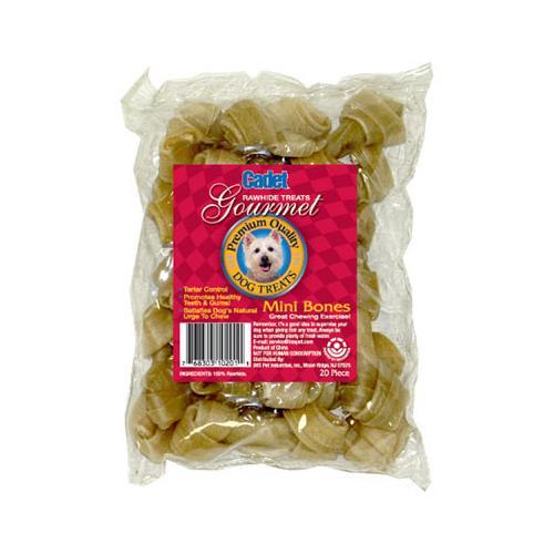 IMS TRADING CORP Gourmet Dog Treats, Beef Rawhide Bone, 2-1/2-In., 20-Pk.