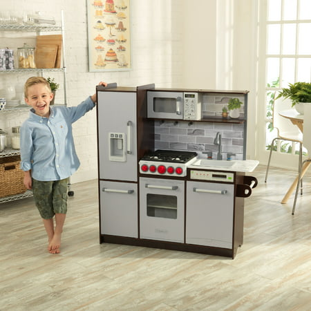 KidKraft Uptown Elite Espresso Play Kitchen with EZ Kraft ...
