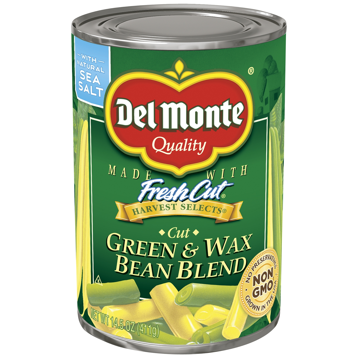 Del Monte Harvest Selects Cut Green & Wax Beans, 14.5 Oz