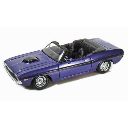 1970 Dodge Challenger R/T Convertible, Purple - Maisto 31264 - 1/24 scale diecast model (1970 Dodge Challenger Rt Plum Crazy Purple)