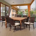 International Home Amazonia 9-Piece Square Patio Dining Set