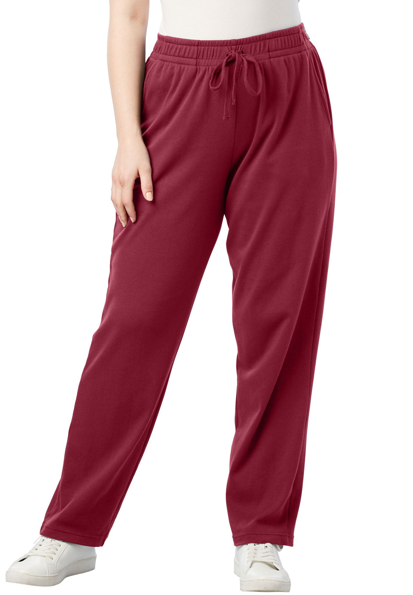 Plus Size Straight Leg Soft Knit Pant