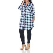 Women's Plus Size Plaid Tunic Top