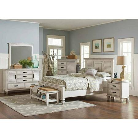 - CDecor Madeline Antique White 4-piece Bedroom Set