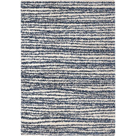 Adderley Talisman Area Rugs - JA10 Shag & Flokati Ivory Lines Banded Rows Bars (Adderley Antique)
