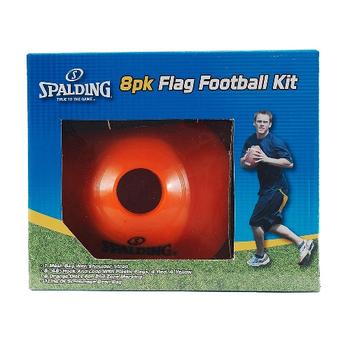 Spalding Flag Football Kit with 8 Colored Flags by Spalding