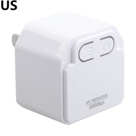 Long Range Wireless Router - 300Mbps WIFI Extender Mini Wireless Repeater AP Router Wall Plug Wi-Fi Signal Amplifier Range Extender Booster White