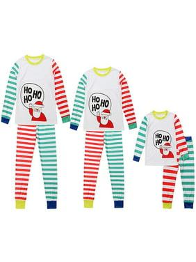 2a9538a2b Product Image Mama Dad Kid Ho Ho Ho Santa Claus Print Family Matching  Clothes Long Sleeve and Pants