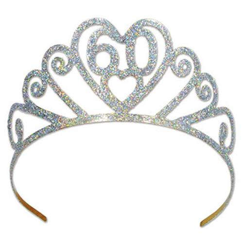 Glittered Metal60Tiara (Pack of 6)