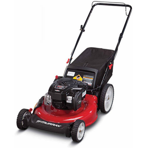"Murray 21"" Gas Push Lawn Mower with Side Discharge, Mulching, Rear Bag and Rear High Wheel"