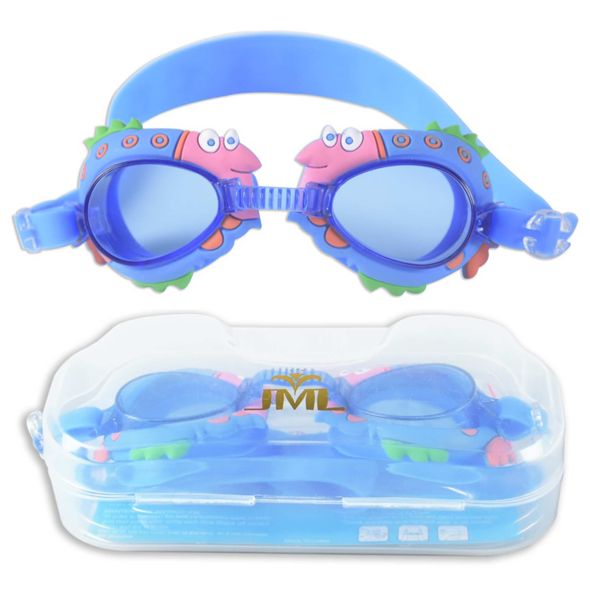 JML Kid Goggles, Cute Animal Design Swim Goggles Soft Silicone, Anti-Fog, No Leaking, UV Protection Hypoallergenic... by JML