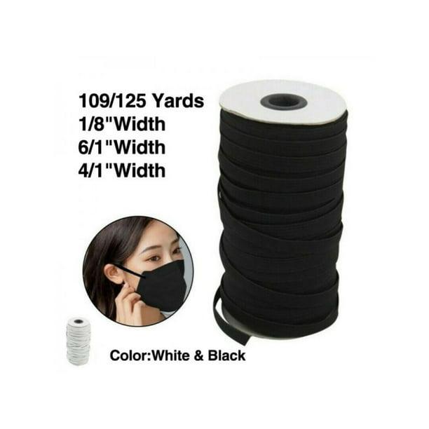 125 Yards Length Diy Braided Elastic Band 1 8 1 6 1 4 Inch Cord