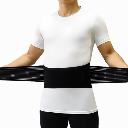 Portable Double Layer Waist Support Belt for Lower Back Pain Back Brace for Lumbar Protect with PVC Supporting