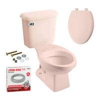 Peerless Pottery K-7660-18 Hancock Elongated Toilet Kit with Seat