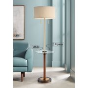 Possini Euro Design Bullock Tray Table Floor Lamp With Usb Port And Outlet