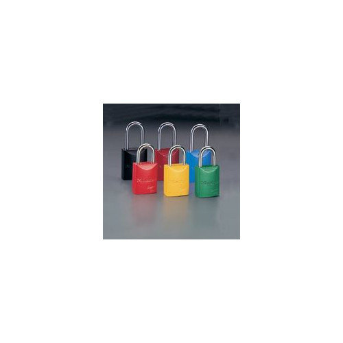 Master Lock Company 1 31/32'' High Body High-Visibility Aluminum Padlock - Keyed Differently With 1 1/16'' Shackle (Set of 6)