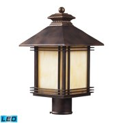 Blackwell 1-Light Outdoor Post Mount in Hazelnut Bronze