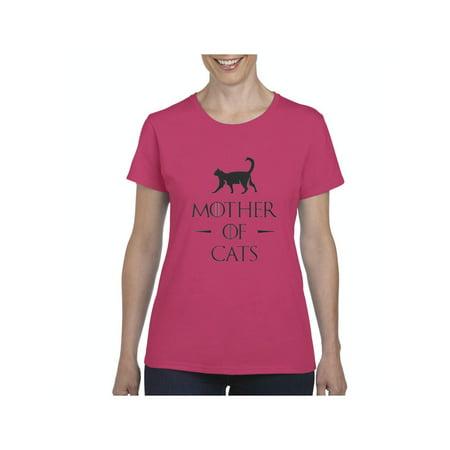 Mother of Cats Women Shirts T-Shirt Tee