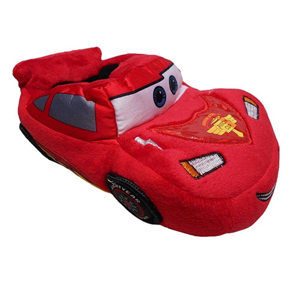Disney Toddler Boys Cars Slippers Plush