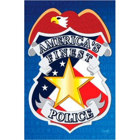 Police Garden Flag, made of durable 3 layers blockout construction helps resist the wear and tear from frequent use By Breeze Decor Ship from US