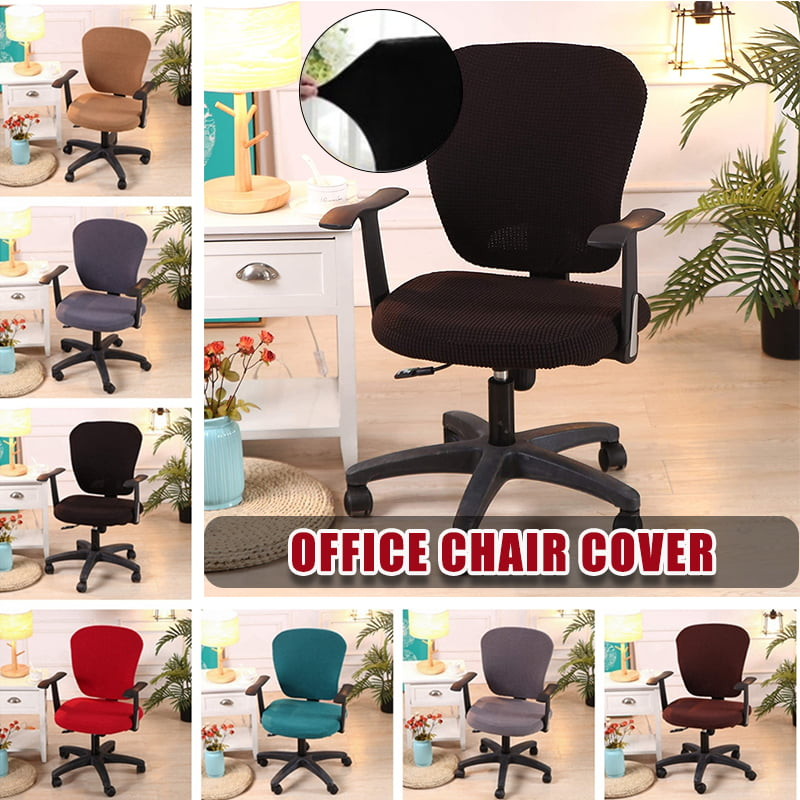 Desk Chair Cover Computer Office Chair Covers Removable Universal Chair Covers Stretch Rotating Chair Slipcover Protective Stretchable Black Grey Wine Red Walmart Com Walmart Com