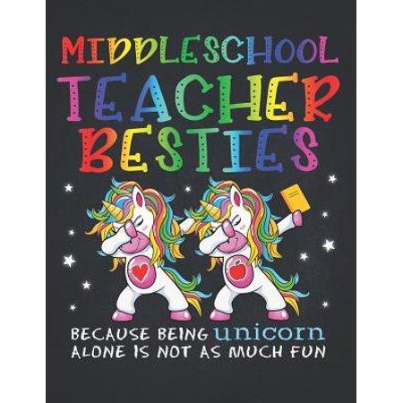 Unicorn Teacher: Middle School Teacher Besties Teacher's Day Best Friend Perpetual Calendar Monthly Weekly Planner Organizer Magical da
