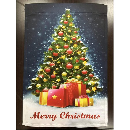 Merry Christmas Tree Garden Flag - 12