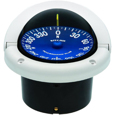"RITCHIE COMPASSES SS-1002W Compass, Flush Mount, 3.75"" Dial, White by RITCHIE COMPASSES"