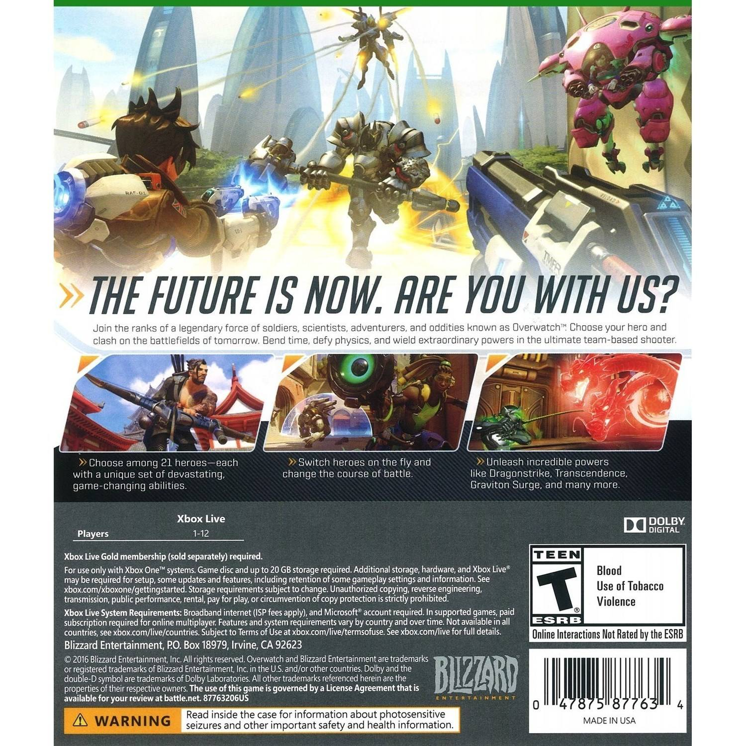Xbox One Game Cover Back