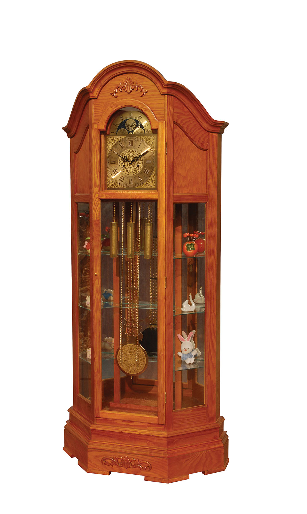 97083 Hedeon Grandfather Clock Oak by