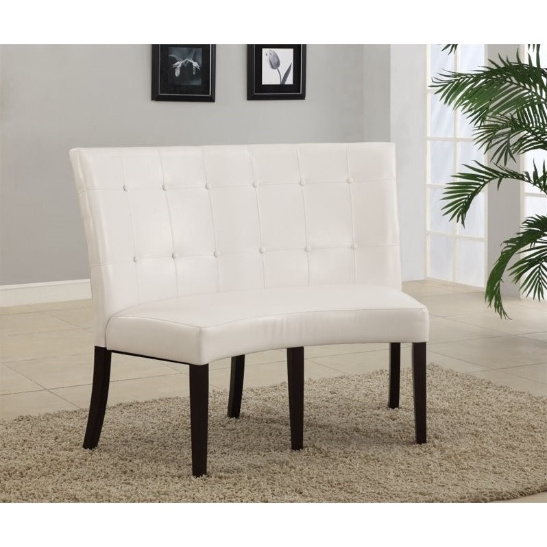 Modus Furniture Bossa Dining Height Banquette in White Le...