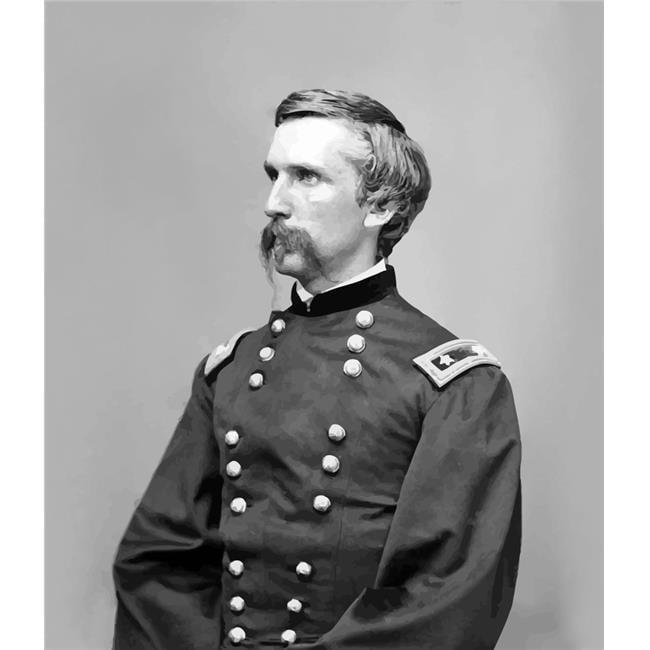 StockTrek Images PSTJPA100101M Digitally Restored Vector Portrait of General Joshua Lawrence Chamberlain Poster Print, 12 x 16 - image 1 de 1