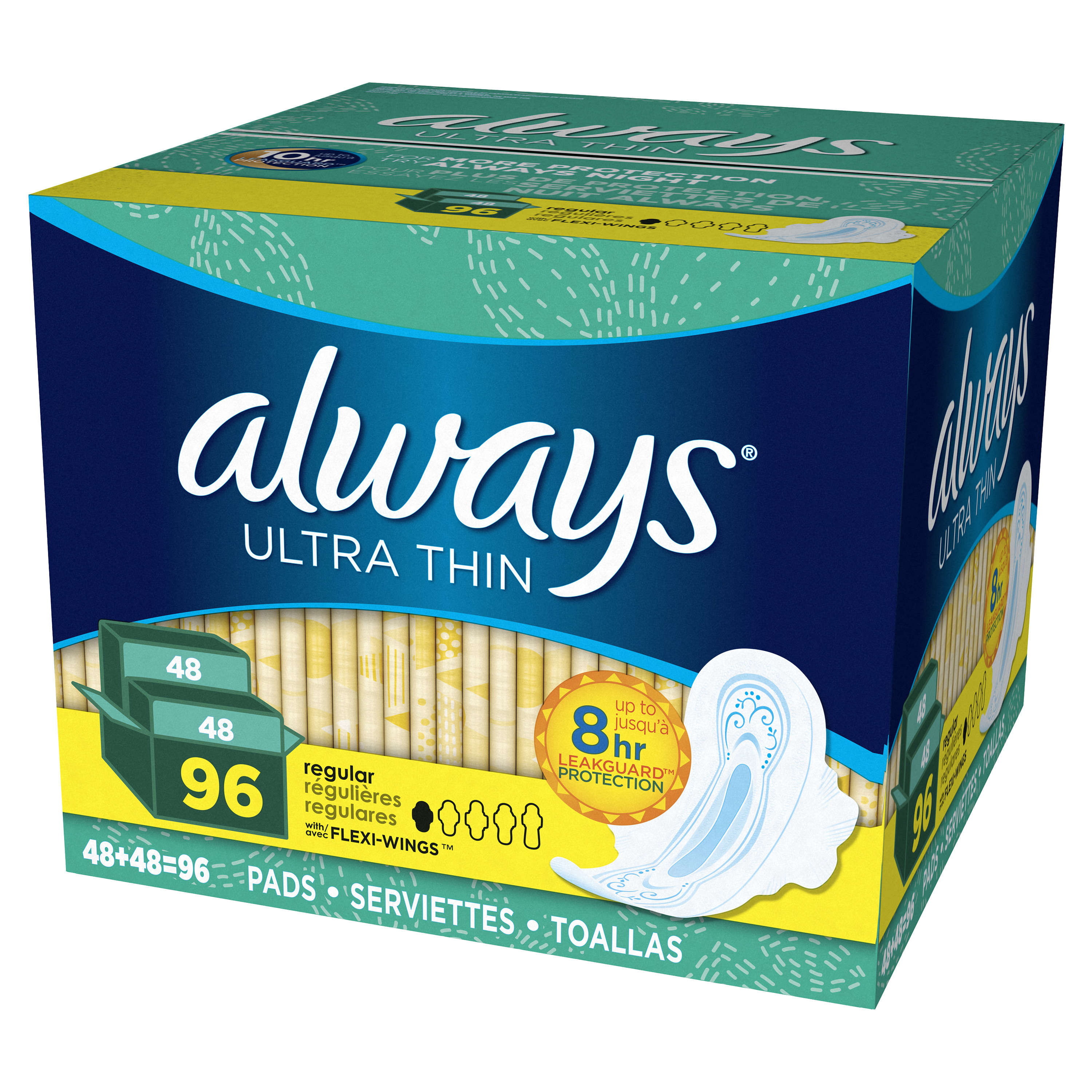 Set of 2 Always Classic Maxi with Wings 9s Super Comfortable and Ultra-Soft Pack of Two Sanitary Napkins