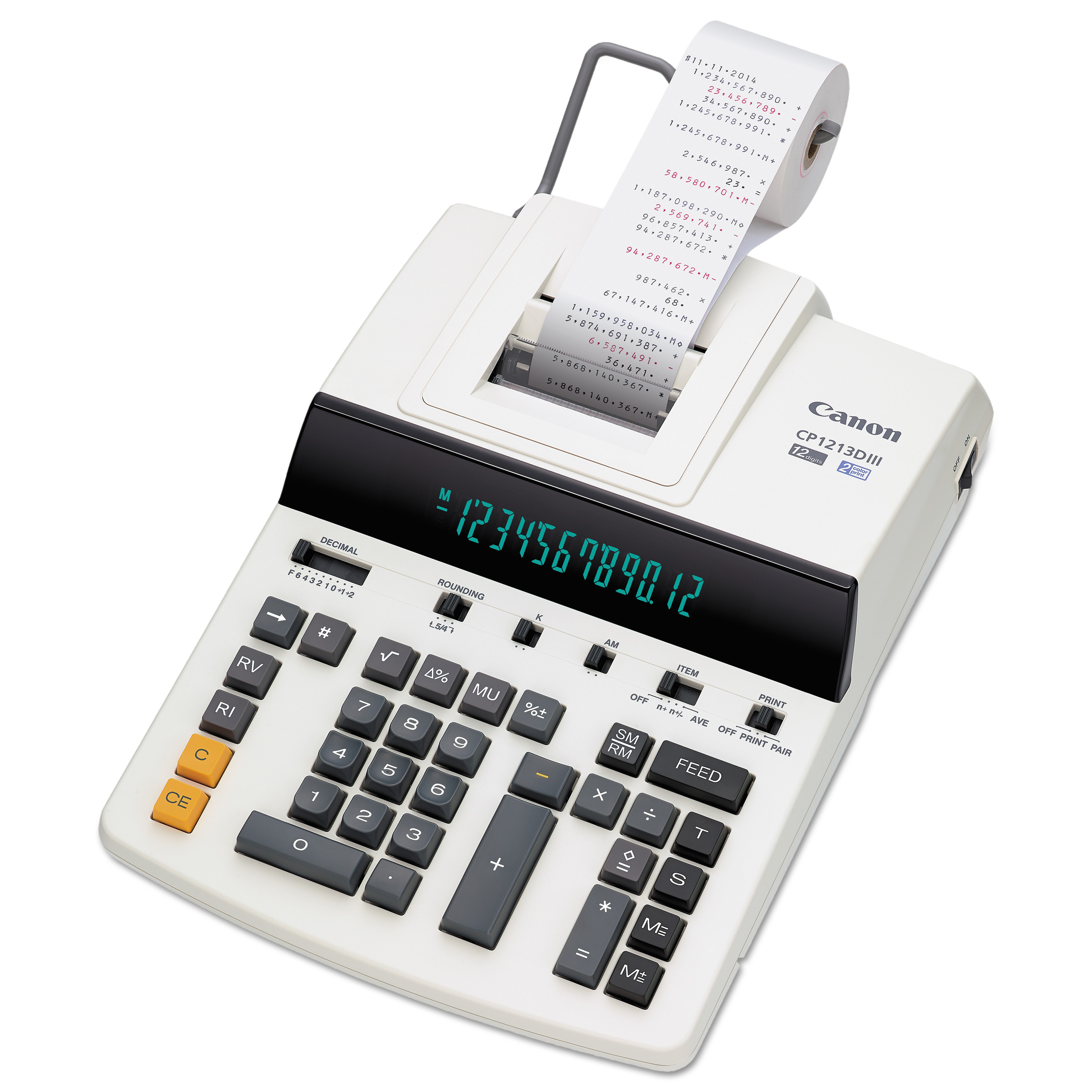 Canon CP1213DIII 12-Digit Heavy-Duty Commercial Desktop Printing Calculator, 4.8 L Sec by CANON USA, INC.