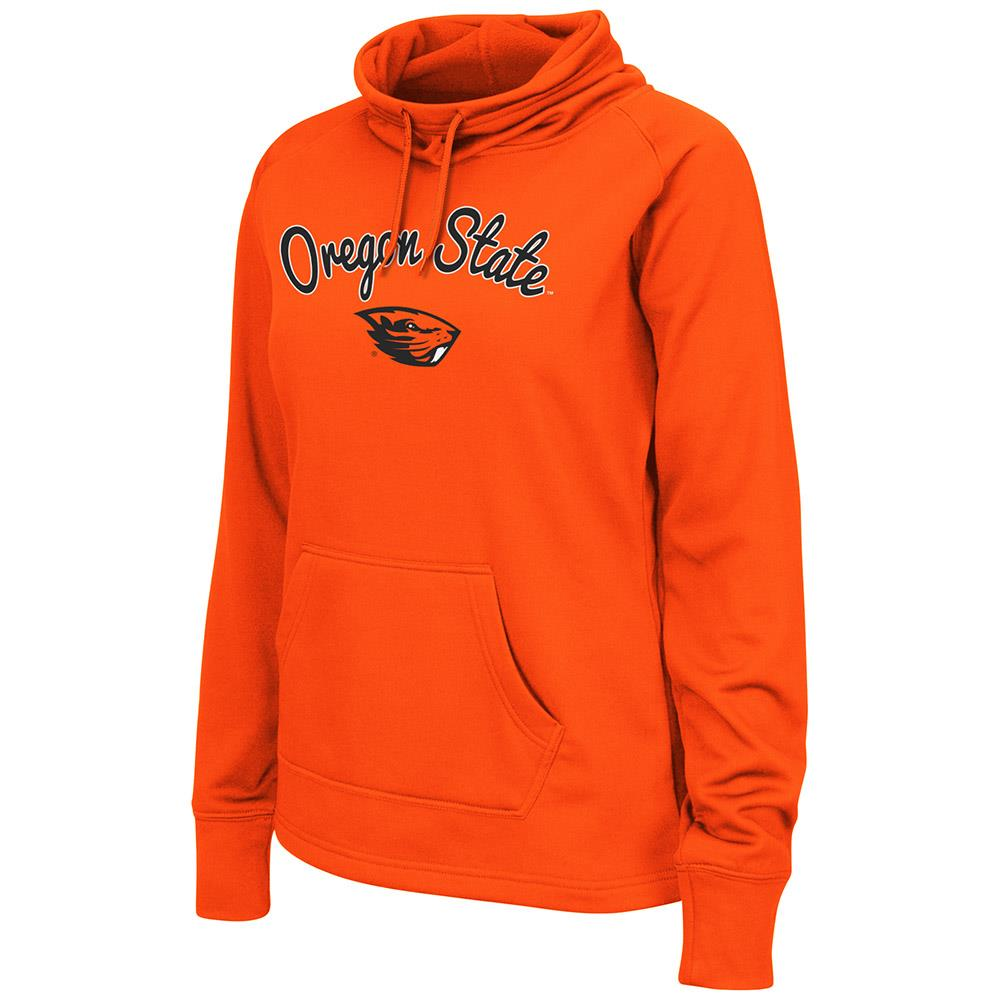 Womens Oregon State Beavers Poly Pull-over Funnel Neck Sweatshirt